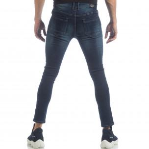 Мъжки класически Skinny Jeans в синьо  2