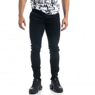 Мъжки черни дънки Slim fit  2