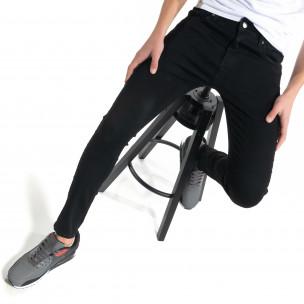 Basic мъжки черни дънки Skinny fit   2