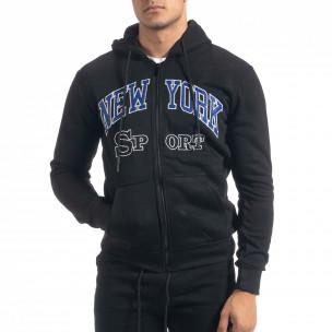 Мъжки черен спортен комплект New York Sport  2