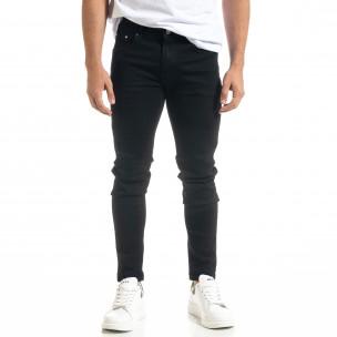 Basic Slim fit мъжки черни дънки Bruno Leoni