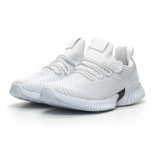 Бели мъжки ултралеки маратонки Wave дизайн   2