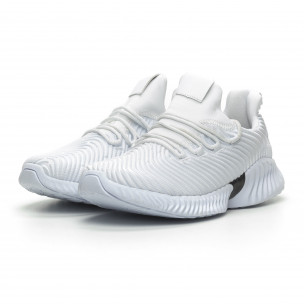 Бели мъжки ултралеки маратонки Wave дизайн  Bazaar Charm 2