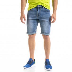 Basic мъжки сини къси дънки
