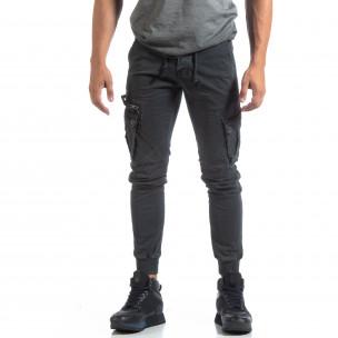 Мъжки сив панталон Cargo Jogger   2