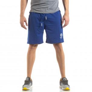 Мъжки спортни шорти в ярко синьо  2
