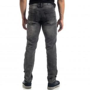 Еластични мъжки сиви дънки Regular fit  2