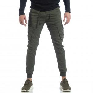 Мъжки Cargo Jogger панталон в милитъри зелено 2