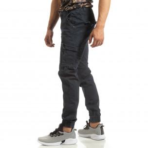 Мъжки карго джогър панталон в синьо