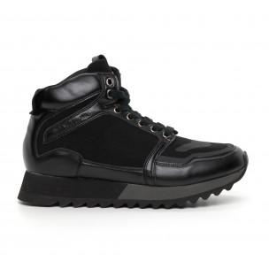 Мъжки високи спортни обувки в черно