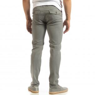 Мъжки CHINO панталон в сиво  2