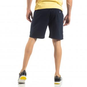Мъжки спортни шорти в тъмно синьо  2