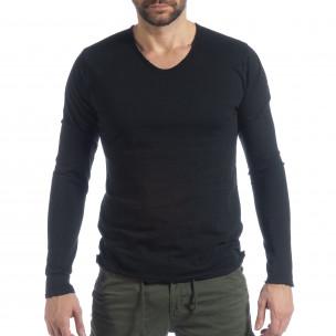 Мъжка блуза V-neck в черно