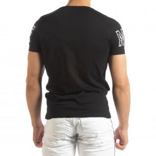 Черна мъжка тениска принт Watch  2