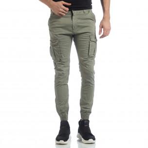 Мъжки Jogger карго панталон в зелено 2