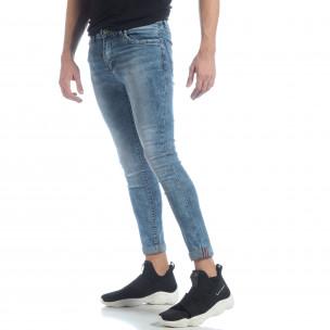 Мъжки Skinny Washed Jeans в синьо