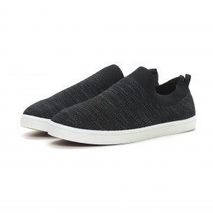 Мъжки гуменки тип чорап черен меланж  2