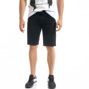 Basic Slim fit мъжки черни къси дънки