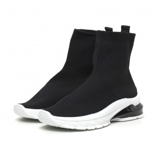 Черни дамски маратонки тип чорап. Размер 37  2