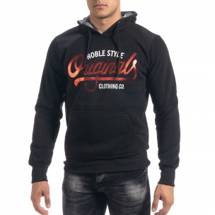 Мъжки суичър hoodie в черно Originals Top Star