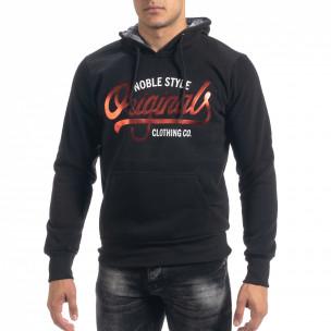 Мъжки суичър hoodie в черно Originals