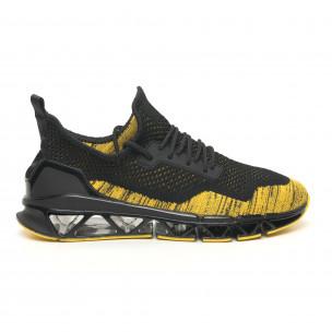Мъжки маратонки Knife в черно и жълто  2