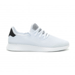 Ултралеки мъжки маратонки Mesh в бяло