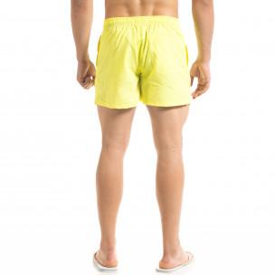 Basic мъжки бански в неоново жълто  2