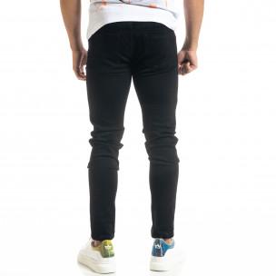 Basic Slim fit мъжки черни дънки  2