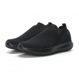 Ниски мъжки маратонки тип чорап All black 2