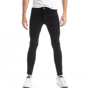 Basic мъжки черни дънки Skinny