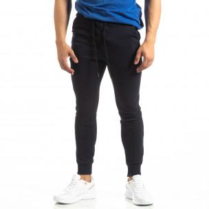 Basic мъжко памучно долнище в тъмно синьо 2