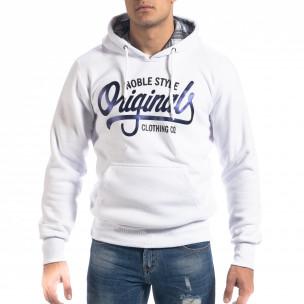 Мъжки суичър hoodie в бяло Originals