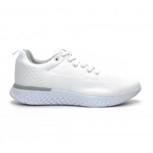 Плетени мъжки бели маратонки
