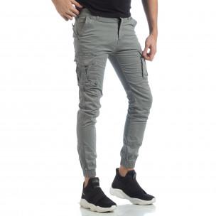 Мъжки Jogger карго панталон в сиво