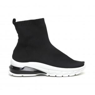 Черни дамски маратонки тип чорап. Размер 38