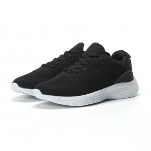 Ултралеки текстилни мъжки маратонки в черно  2