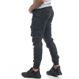 Мъжки сив карго панталон ватиран  2
