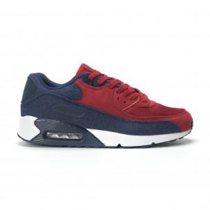 Мъжки Air маратонки в деним и червено