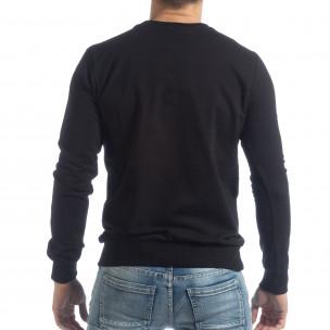 Basic мъжка черна блуза  2