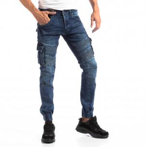 Рокерски Cargo Jogger дънки в синьо  2