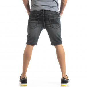 Мъжки черни дънкови бермуди Vintage 2