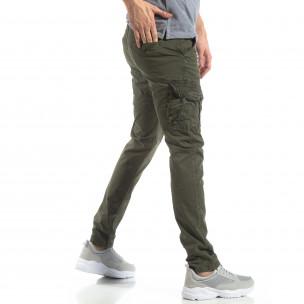 Мъжки панталон тип карго в зелено  2