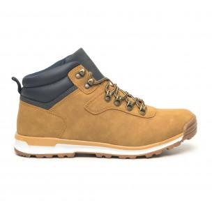 Мъжки обувки камел с акцент тип Hiker  2