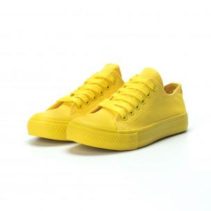 Жълти дамски гуменки  2