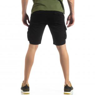 Мъжки карго бермуди в черно  2