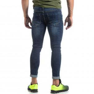 Skinny мъжки сини изтъркани дънки  2
