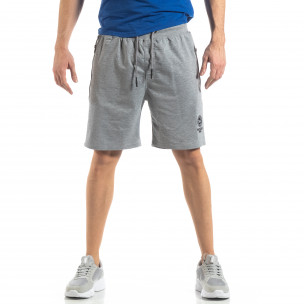 Мъжки спортни шорти в сиво 2