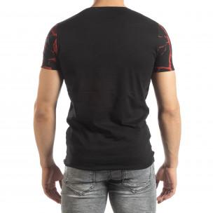 Мъжка тениска Supple в черно и червено  2