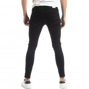 Basic мъжки черни дънки Skinny   2